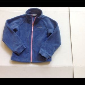 Columbia Blue Pink Fleece Jacket Coat